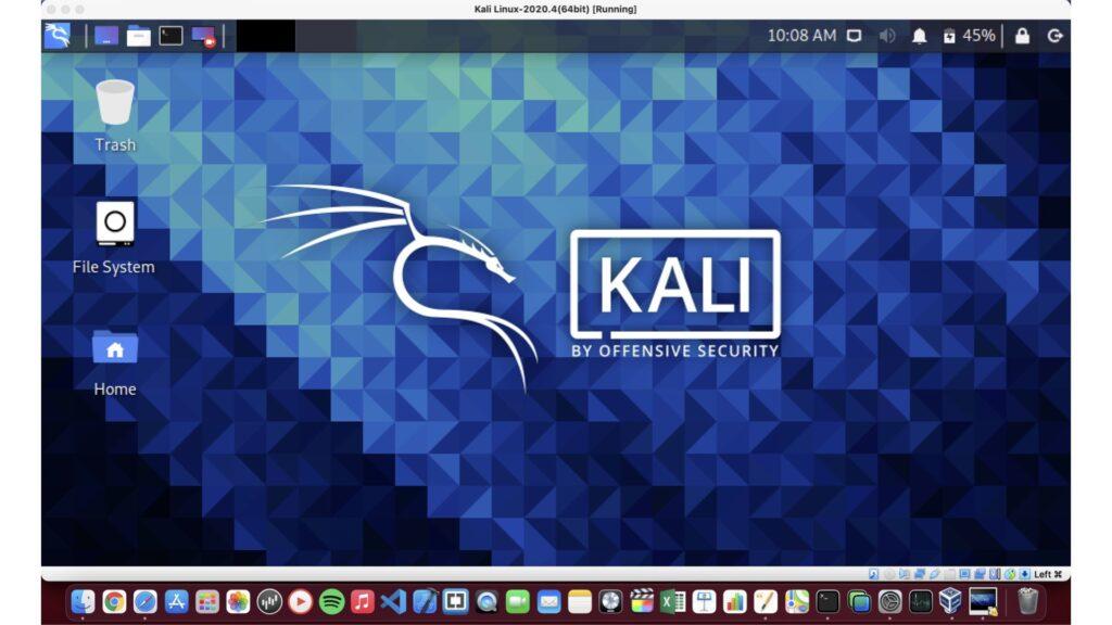 Kali Linux トップ画面
